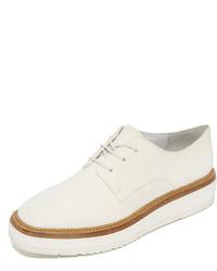 Zapatos oxford de cuero blancos de Vince