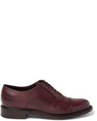 Zapatos oxford de cuero burdeos de Brioni