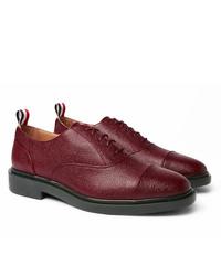 Zapatos oxford de cuero burdeos de Thom Browne
