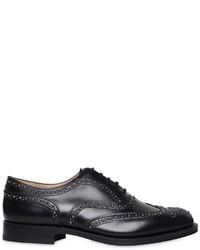 Zapatos oxford de cuero con tachuelas negros