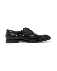 Zapatos oxford de cuero con tachuelas negros de Church's