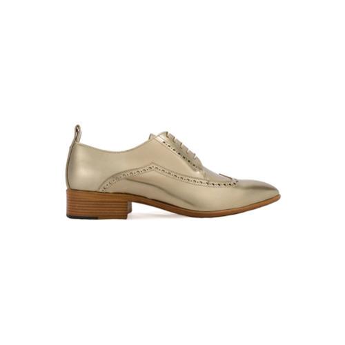 Zapatos oxford de cuero dorados de Maison Margiela