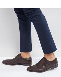Zapatos oxford de cuero en marrón oscuro de ASOS DESIGN