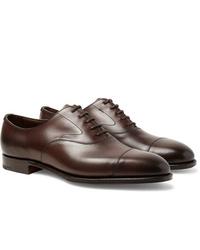 Zapatos oxford de cuero en marrón oscuro de Edward Green