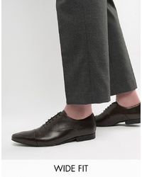 Zapatos oxford de cuero en marrón oscuro de Kg Kurt Geiger