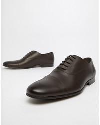 Zapatos oxford de cuero en marrón oscuro de Office