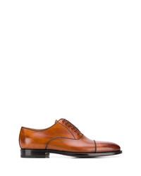 Zapatos oxford de cuero en tabaco de Kiton