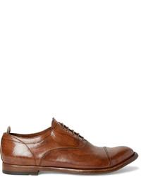 Zapatos oxford de cuero en tabaco de Officine Creative