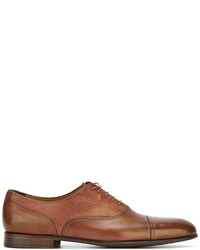 Zapatos oxford de cuero en tabaco de Paul Smith