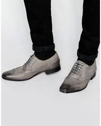 Zapatos oxford de cuero grises de Asos