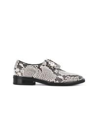 Zapatos oxford de cuero grises de Coliac