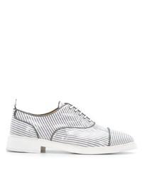 Zapatos oxford de cuero grises de Thom Browne