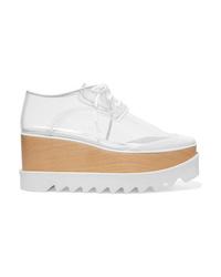 Zapatos oxford de cuero gruesos blancos de Stella McCartney
