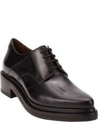 Zapatos oxford de cuero gruesos negros
