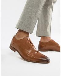 Zapatos oxford de cuero marrón claro de Kg Kurt Geiger
