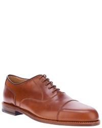 Zapatos oxford de cuero marrón claro de Ludwig Reiter