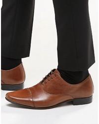 Zapatos Oxford de Cuero Marrón Oscuro de Asos