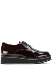 Zapatos Oxford de Cuero Marrón Oscuro de Paloma Barceló