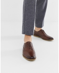 Zapatos oxford de cuero marrónes de ASOS DESIGN