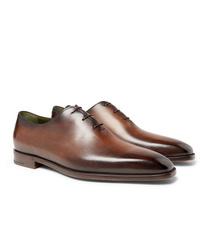 Zapatos oxford de cuero marrónes de Berluti