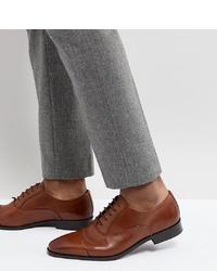 Zapatos oxford de cuero marrónes de Dune
