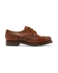 Zapatos oxford de cuero marrónes de James Purdey & Sons