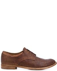 Zapatos Oxford de Cuero Marrónes de Officine Creative