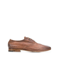 Zapatos oxford de cuero marrónes de Premiata