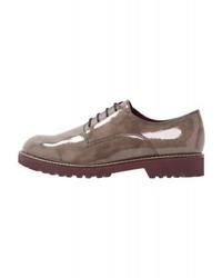 Zapatos Oxford de Cuero Marrónes de Tamaris