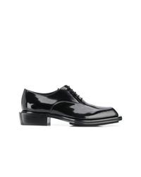 Zapatos oxford de cuero negros de Alexander McQueen