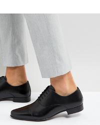 Zapatos oxford de cuero negros de ASOS DESIGN