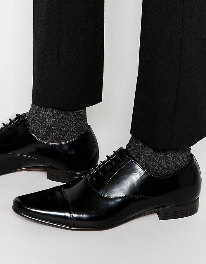Zapatos oxford de cuero negros de Asos
