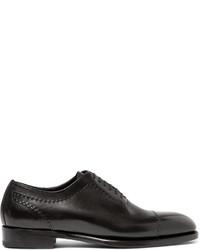 Zapatos oxford de cuero negros de Brioni