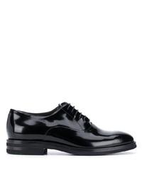 Zapatos oxford de cuero negros de Brunello Cucinelli