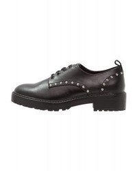 Zapatos Oxford de Cuero Negros de Even&Odd