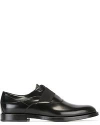 Zapatos Oxford de Cuero Negros de Fendi