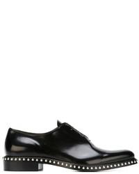 Zapatos oxford de cuero negros de Givenchy