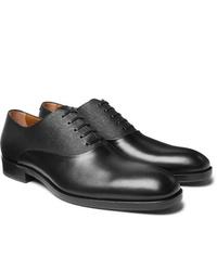 Zapatos oxford de cuero negros de Hugo Boss
