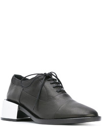 Zapatos oxford de cuero negros de MM6 MAISON MARGIELA