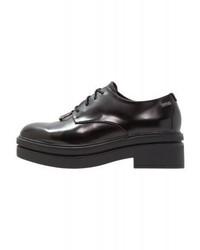 Zapatos Oxford de Cuero Negros de Mtng
