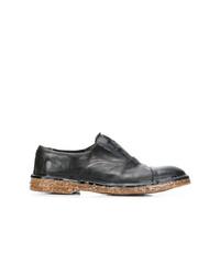Zapatos oxford de cuero negros de Premiata
