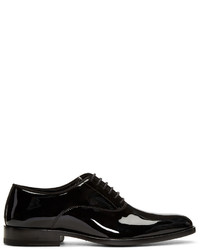 Zapatos Oxford de Cuero Negros de Saint Laurent