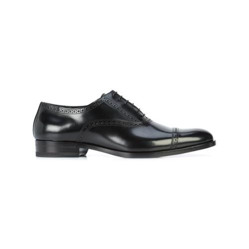 Zapatos oxford de cuero negros de Saint Laurent