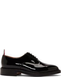 Zapatos oxford de cuero negros de Thom Browne