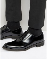Zapatos Oxford de Cuero Negros de Zign Shoes