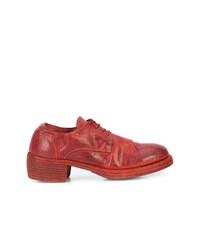 Zapatos oxford de cuero rojos de Guidi