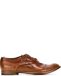 Zapatos Oxford de Cuero Tabaco de Officine Creative