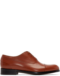 Zapatos Oxford de Cuero Tabaco de Paul Smith