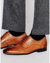 Zapatos Oxford de Cuero Tabaco de Ted Baker