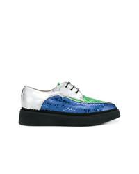 Zapatos oxford de lentejuelas azules de N°21